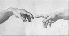 Genesis, creation of man, Michelangelo